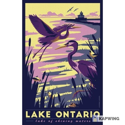 "Lake Ontario Travel Poster - 11x17"""