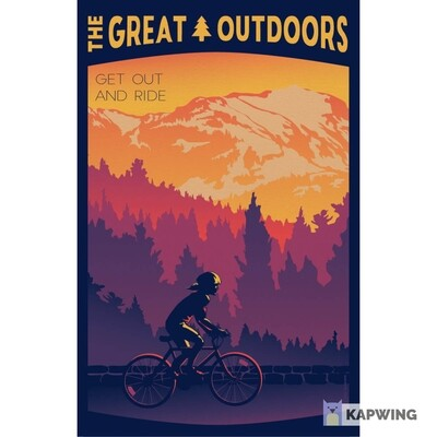 """The Great Outdoors: Get Out And Ride Travel Poster - 11x17"""""""