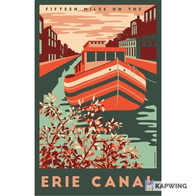 """Erie Canal Travel Poster - 11x17"""""""