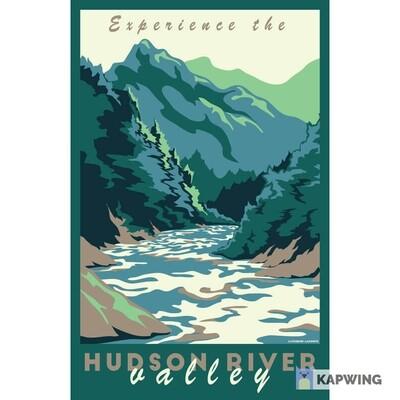 "Hudson River Valley Travel Poster - 11x17"""