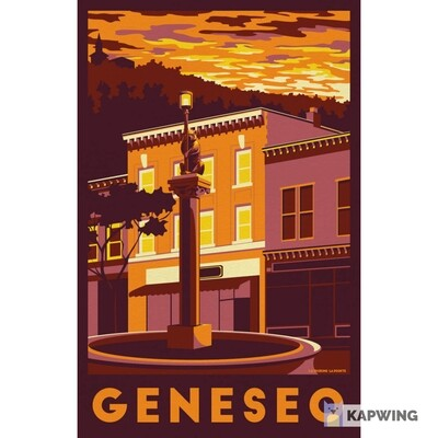 Geneseo Travel Poster - 11x17""