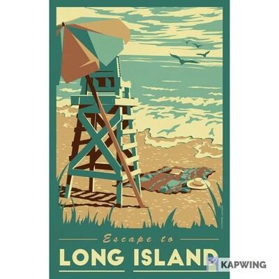 "Long Island Travel Poster - 11x17"""