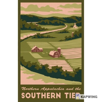 """The Southern Tier Travel Poster - 11x17"""""""