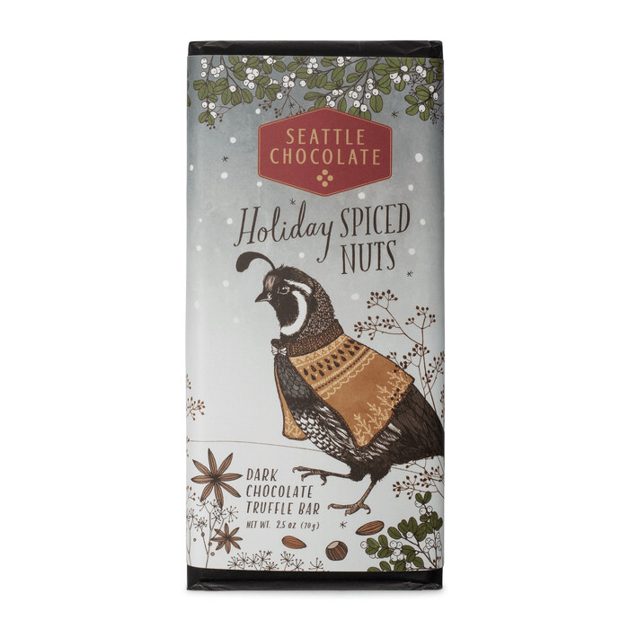 Holiday Spiced Nuts Seattle Chocolate Bar