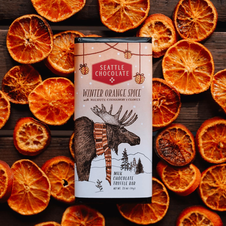 Winter Orange Spice Seattle Chocolate Bar