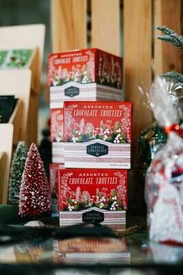 Woodland Cheer Gift Truffle Box Seattle Chocolate