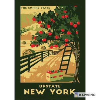 Upstate NY Lionheart Travel Sticker