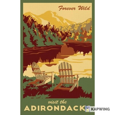 Adirondack Lionheart Travel Stickers