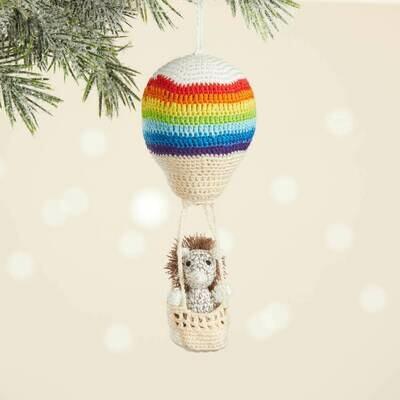 Serrv Aeronaut Hedgehog Crocheted Ornament - 92939