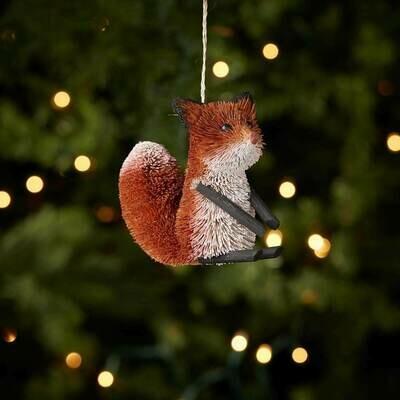 Serrv Friendly Fox Buri Ornament - 74481