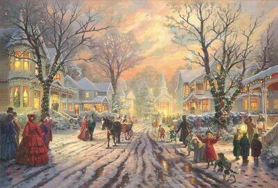 Thomas Kinkade: 3328-47 A Victorian Christmas Carol 1000pc Puzzle