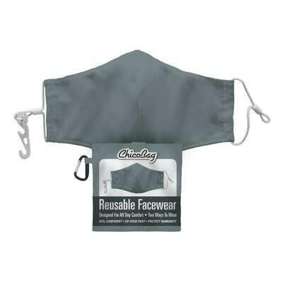 Chico Bag Slate Grey 2-Layer Facewear Mask w/ Pouch