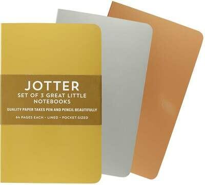 PPP Foil Jotter Set of 3 Mini Notebooks