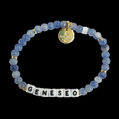 Geneseo S/M White Little Words Project Bracelet