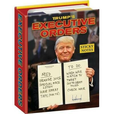 SALE: UPG Trumps Executive Orders Sticky Notes - org. $6.99