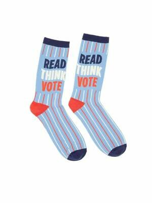 Out Of Print Books Read, Think, Vote Socks - Unisex Large