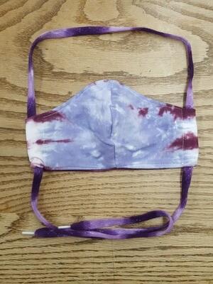 Hand Sewn Tie-On Tie-Dye Mask