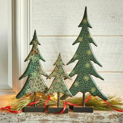 /BOX/ Serrv Batik Holiday Trees - 37812