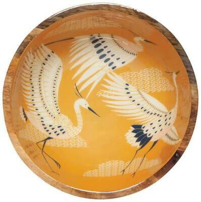 /1BOX/ Flight of Fancy Mangowood Serving Bowl