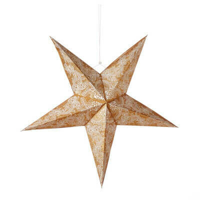 Serrv Swirling Gold Mandala Star - 32663