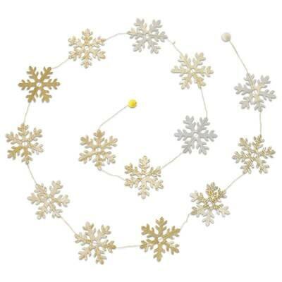 Metallic Snowflake Paper Garland