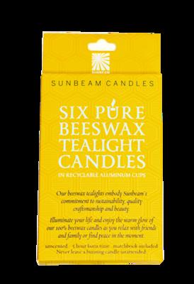 Beeswax Tealights SO/6 Candles - Sunbeam