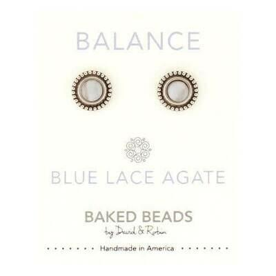 E1102E Balance Blue Lace Agate Powerstone Post BB Earrings