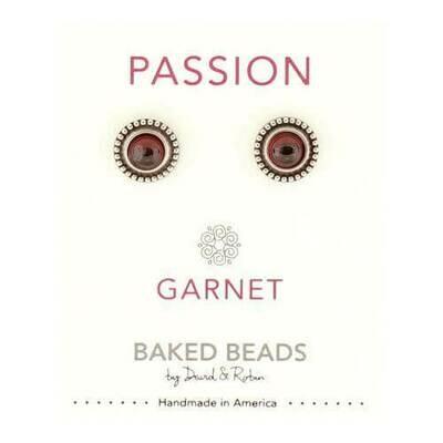 E1102 Passion Garnet Powerstone Post BB Earrings