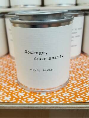Courage, dear heart. - C.S. Lewis- Shine Mini Paint Can Candle - Sugarboo