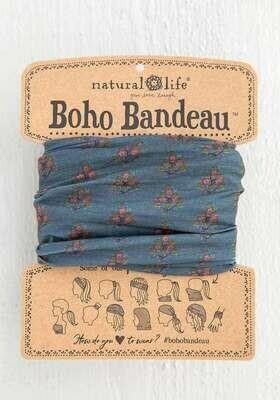 205 Charcoal Pink Block Boho Bandeau