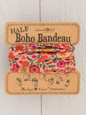 270 Blush Floral Half Boho Bandeau