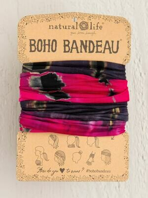 301 Hot Pink/Grey TieDye Boho Bandeau