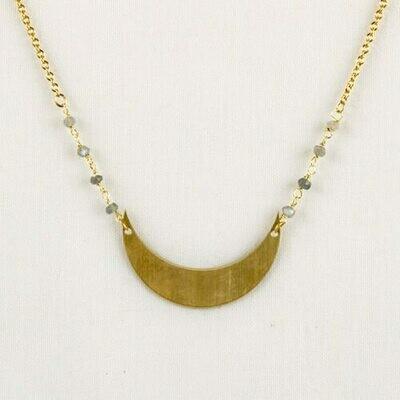 JNE380 Labradorite & Moon Necklace - Altiplano