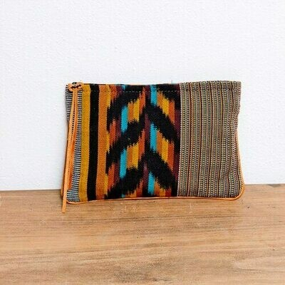 AJ007AM Amber Handwoven Cosmetic Pouch - Altiplano