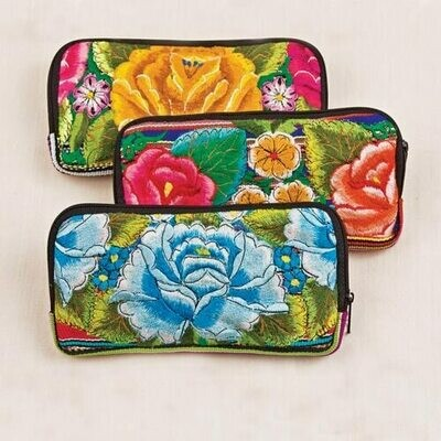 AG52 Embroidered Checkbook Wallet - Altiplano