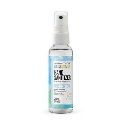 Aura Cacia Hand Sanitizer Unscented - 2oz