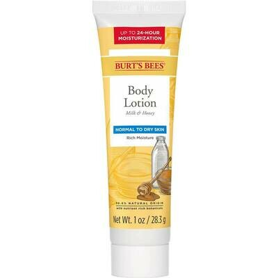 Burt's Bees Body Lotion Milk & Honey - 1oz