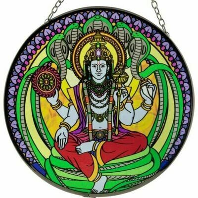 Vishnu 6in Glass Suncatcher