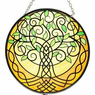 Celtic Tree of Life 6in Glass Suncatcher