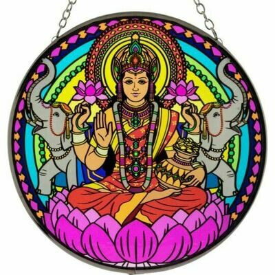 Lakshmi 6in Glass Suncatcher