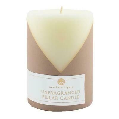 Ivory Unfragranced 3x4 Pillar Candle