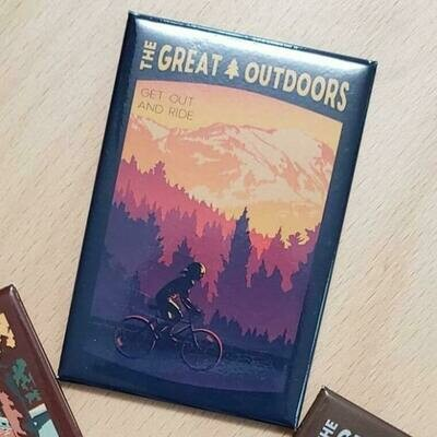 The Great Outdoors: Get Out and Ride Lionheart Travel Magnet