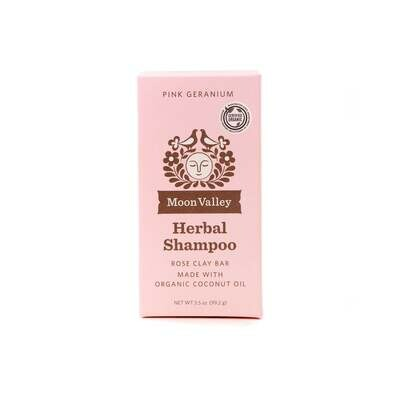 Pink Geranium Shampoo Bar - Moon Valley Organics