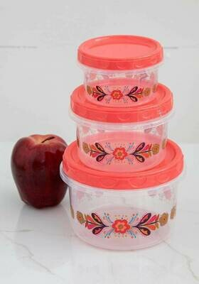 NL Folk Flower SO/3 Food Containers