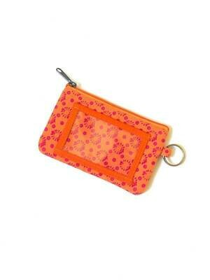 FA Orange Burst Zippered ID Case Pouch