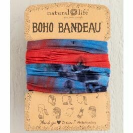 303 Red White Blue Tie Dye Boho Bandeau