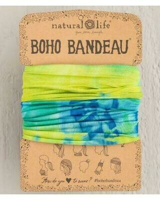 229 Yellow Green Tie Dye Boho Bandeau