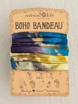 302 Blue Multi Tie Dye Boho Bandeau