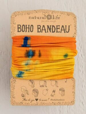 300 Orange Yellow Tie Dye Boho Bandeau