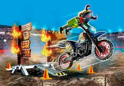 PM 70553 Stunt Show Motocross with Fiery Wall